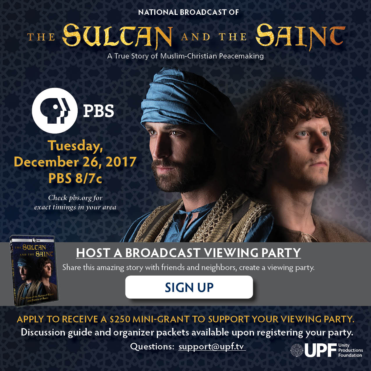 Sultan and Saint National Broadcast
